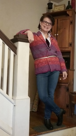 Mondays Look. This beautiful Sigrid Olsen cardigan is from ReStitch from a CyberMonday sale.