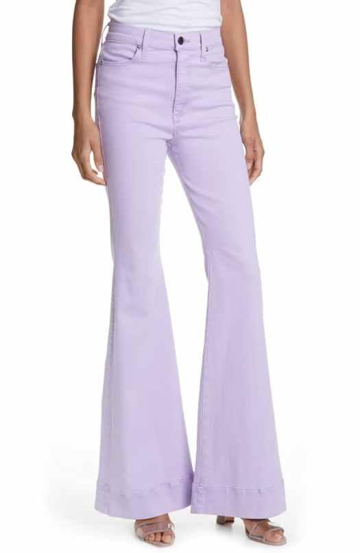 Triangle high-waisted palazzo jeans
